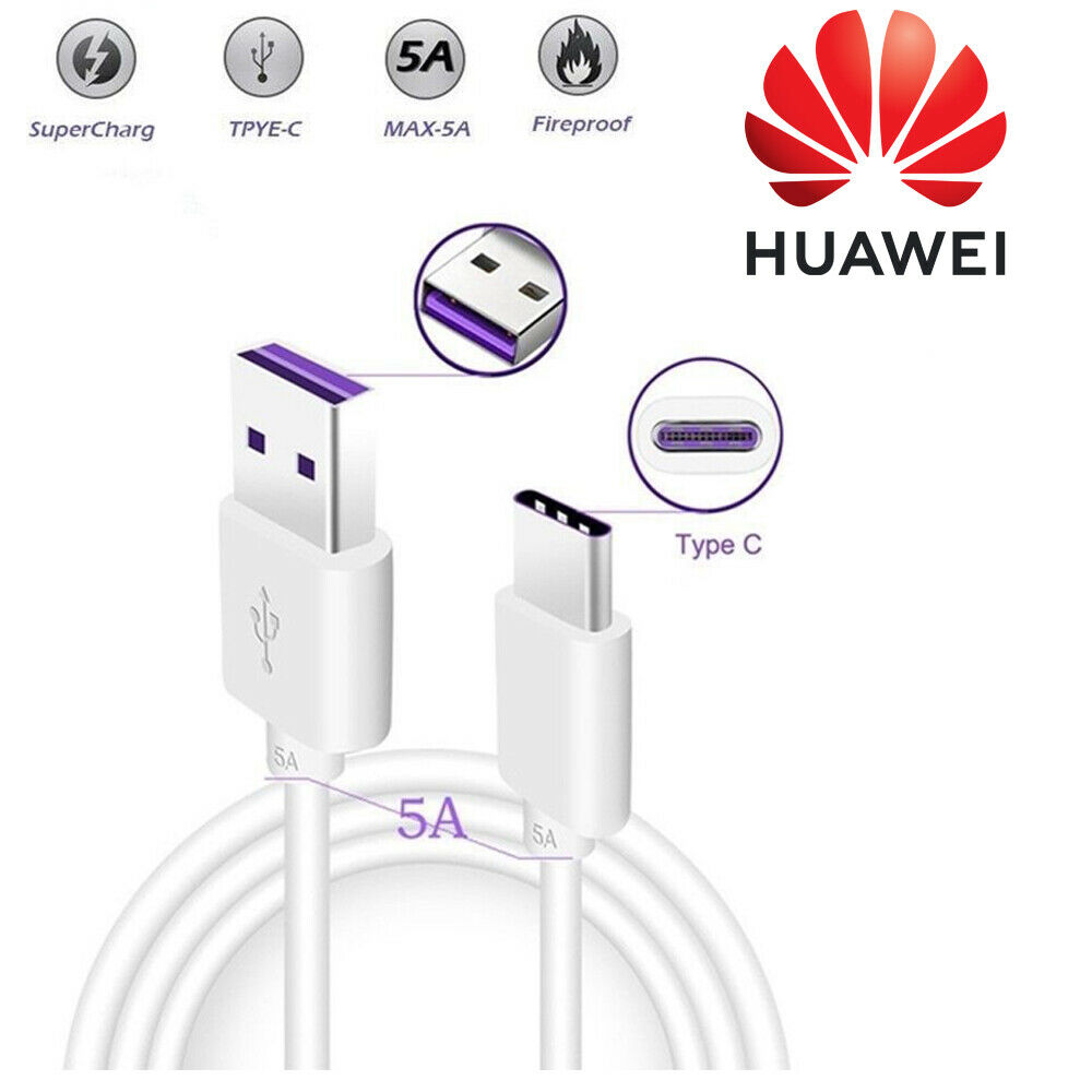 Original-Huawei-P20-Mate-20-SuperCharge-Kabel-5A-USB-C-3-1-Datenkabel-Ladekabel Indexbild 3
